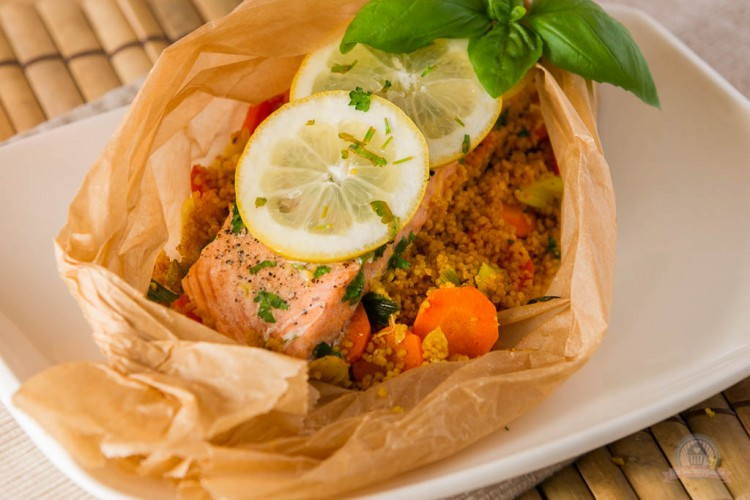 Lachs-Couscous Päckchen