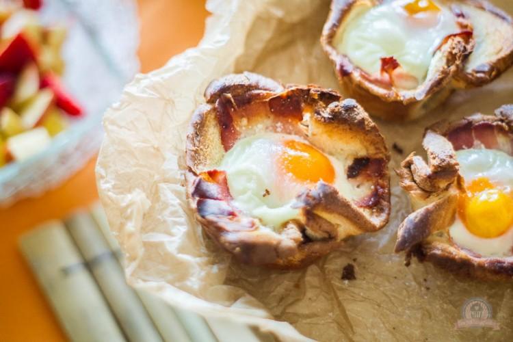 Egg & Bacon Toastmuffins