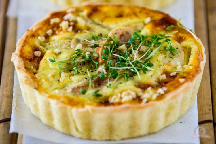 Mini Birnen Roquefort Quiche