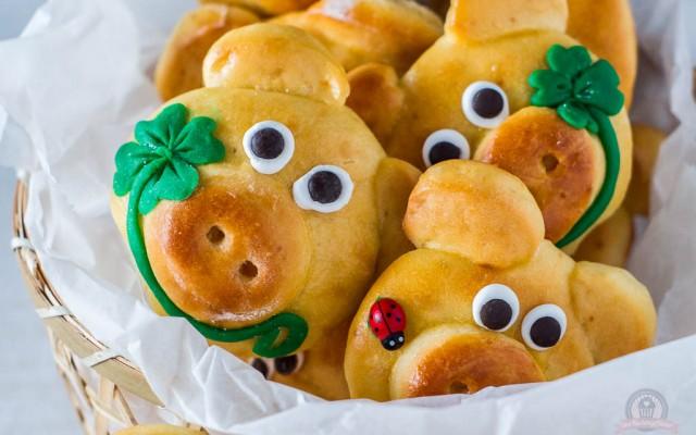 Glücksschweinchen – Prost Neujahr!