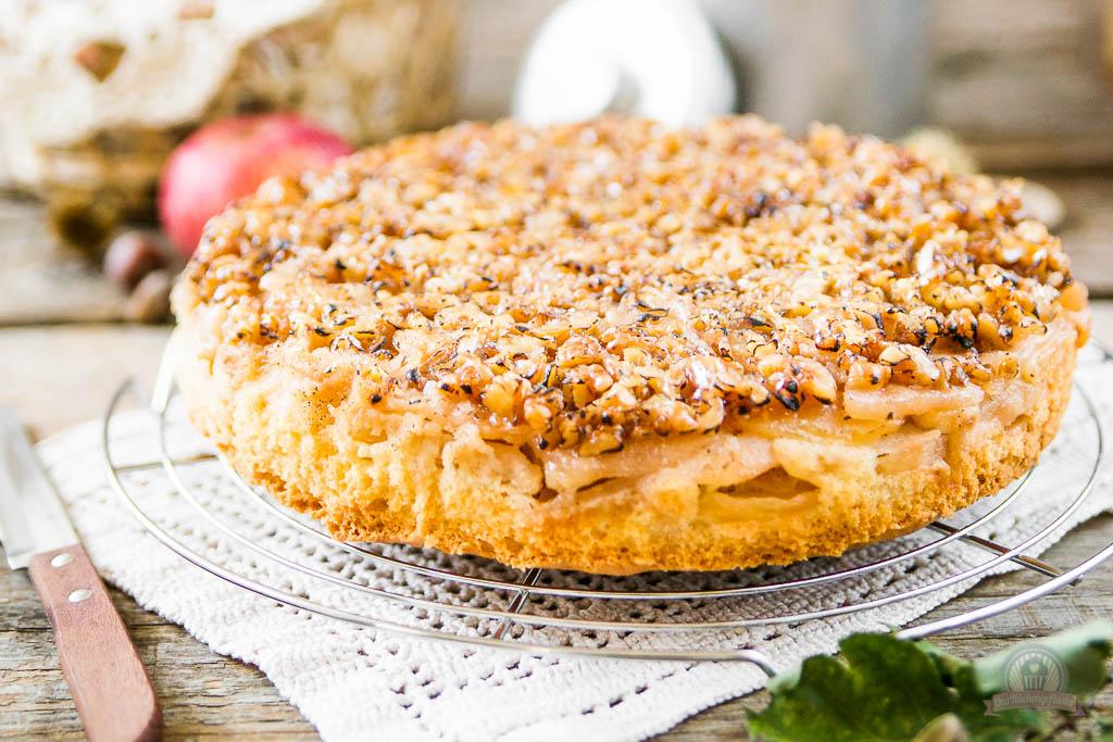 Apfel Walnuss Kuchen Das Kuchengefluster